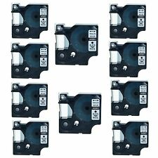 10PK 45803 Black on Wihte Label Tape For Dymo D1 LabelWriter Duo 3M PL100 19MM