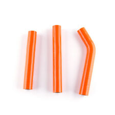 FIT 12-16 KTM 125 200 EXC XC-W THERMOSTAT BYPASS SILICONE RADIATOR HOSE ORANGE