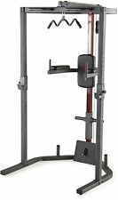 Power Rack Cap Strength Home Gym Total Body Weight Trainer Workout System Pro
