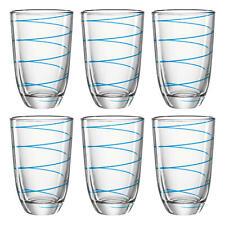 montana: :jolly Trinkglas 6er Set Wasserglas Longdrinkglas Glas Blau 290 ml