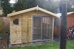 Dog Kennel and run BAR CHALET     -    From £575