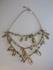 Ann Taylor LOFT  Pearlized Crystal Statement Necklace NWT $39.50