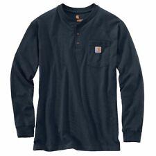 Carhartt camuflaje Workwear Pocket Henley L/s Navy