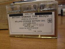 WILLARD STORAGE BATTERY VINTAGE OLD 1959 6 Volt BB-214/U Ohio Collectible RARE