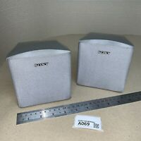 Pair Sony SS-MSP661 Surround Sound Satellite Speakers Front or Rear Silver A069