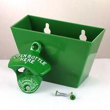 Starr X Apribottiglie Parete + Tappo bottiglia Contenitore Montaggio verde