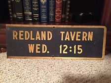 Vintage Redland Tavern Metal Sign #2 -Perfect for the Man Cave
