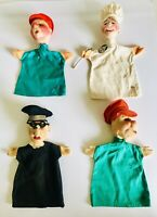 4 Kersa Hand Puppets Chef Cook w/Tag - Vintage - Germany