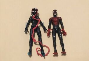 "Marvel Legends Venomized Miles Morales + Venom Spider Gwen Venompool BAF Lot 6"""