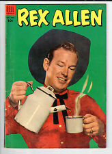Dell Rex Allen #10 Sept-Nov 1953 vintage comic VG photo front & back covers