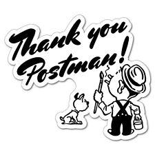 Thank You Postman Letterbox Post Box Sticker  #7316EN