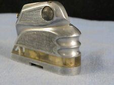 ANTIQUE WW2 ALUMINIUM PERSPEX TRENCH ART DECO MACHINE AGE POCKET PETROL LIGHTER