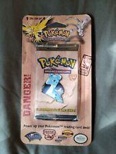 1999 Pokemon Fossil Blister Pack Factory Sealed (11) Card Booster Vtg Hanger Box