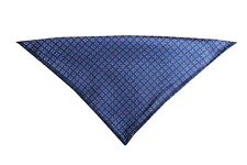 Herren Kavalierstuch Einstecktuch Blau gemustert