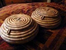 More details for pair of vintage snake baskets