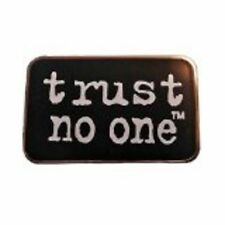 "X-FILES TV SERIES ""TRUST NO ONE"" Logo Enamel PIN New 1 INCH X 5/8 INCH"