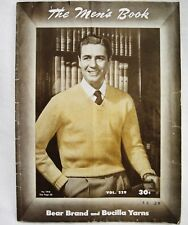 Vintage Bear Brand and Bucilla Yarns Pattern Book for Men Knit Sweaters Socks