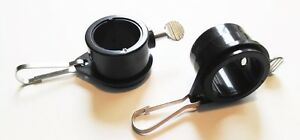 """Rotating Flag Mounting Rings BLACK 2 Pack fits 1"""" Diameter Flag Pole Made in USA"""