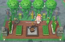 Outdoor Bamboo Square Garden Set(20items)Furniture -Animal Crossing New Horizons