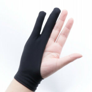 Black 2 Finger Artist Glove Anti-fouling For Drawing Graphics Digital Painting
