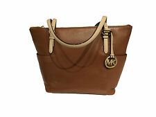 Michael Kors Jet Set East West Top Zip Tote Luggage Brown Leather - NWT -