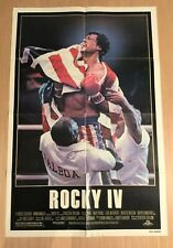 Rocky IV 1985 Original 1-Sheet Movie Poster Sylvester Stallone