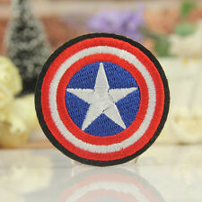 Embroidered Captain America Shield Iron Sew On Patch Clothes Bag Badge Applique