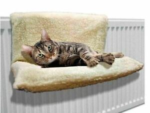 Cat Kitten Hanging Radiator Dog Pet Bed Warm Fleece Basket Cradle Hammock Plush