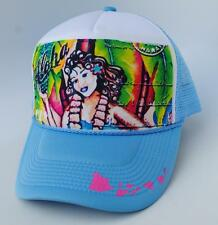 Aloha Hawaiian Hawaii One Size Snapback Blue & White Trucker Baseball Cap Hat