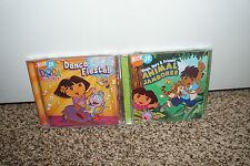 LOT (2) Dora The Explorer Diego & Friends CDS Music Dance Fiesta Animal Jamboree