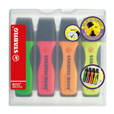 Stabilo BOSS Executive Highlighter Pen - Assorted (Pack of 4)
