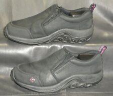 Merrell Jungle Moc women's black nubuck leather slip on shoes size US 5.5M