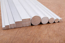 ALUMINIUM Round and Square Bar 10 Piece Value Pack - 300mm long