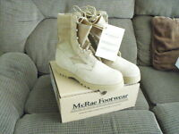 NEW US Military McRae Army Combat Boots Tan  SZ 11.5 Wide NIB W/TAGS HOT WEATHER