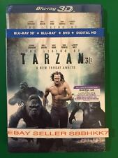 The Legend of Tarzan(Blu-ray 3D + Blu-ray + DVD + HD) & SLIPCOVER NEW FREE SHIPP