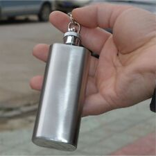 Hip Flask With Screw Cap Liquor Whiskey Alcohol Bottle Keychain Man Gifts