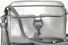 NWOT AUTH REBECCA MINKOFF MAB PEWTER CAMERA LEATHER CROSSBODY MSRP $175.00 #417