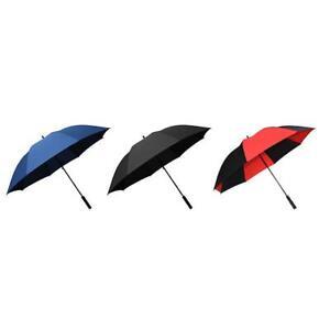Fibreglass Windproof Golf Umbrella 130cm Lightweight Shaft - Black Red Navy