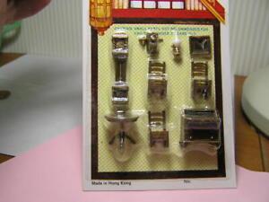 "Miniature Dollhouse 9 Pc Plastic Living Room Set 1/4"" 1:48"