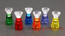 NEW Minifig Display BOTTLES SET - Trans Orange Purple Blue Red w/Clear Jewel Gem
