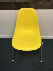 Herman Miller Mid Century Modern Side Chair Eames Yellow