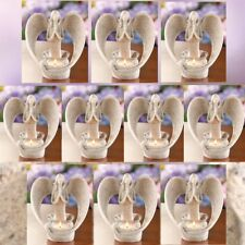 Light of Faith Sand Praying Angel Figurine Candle Holder 10 Piece Lot