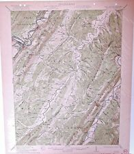 USGS 15' Keyser, WV/MD topographic map 1922 edition