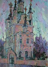 Сhurch of the Resurrection Temple by Sergey Avdeev RUSSIAN Original oil Painting