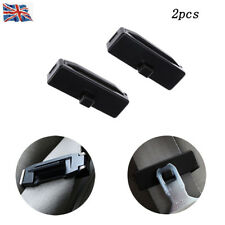 2 pcs Black Car Seat Belt Improves Comfort Safety Stopper Buckle Adjuster Clips