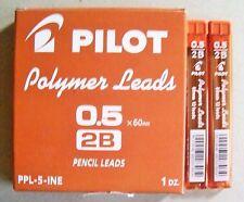 12 Tube Pilot 12 Pencil Leads 2B 0.5mm Refills New