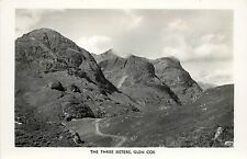 1940s? Real Photo Postcard; The Three Sisters, Glencoe, Argyll Scotland Unposted