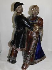 38 cm !!! Tanzendes Paar Höhr-Grenzhausen Westerwald - Keramik