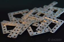 20 Flachwinkel 25 x 25mm 9-Loch Eckwinkel Lochplatten Flachverbinder Möbelwinkel
