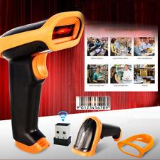 2.4G S2 Wireless Wired Barcode Scanner Handheld Scanning 1D Bar Code Reader Set